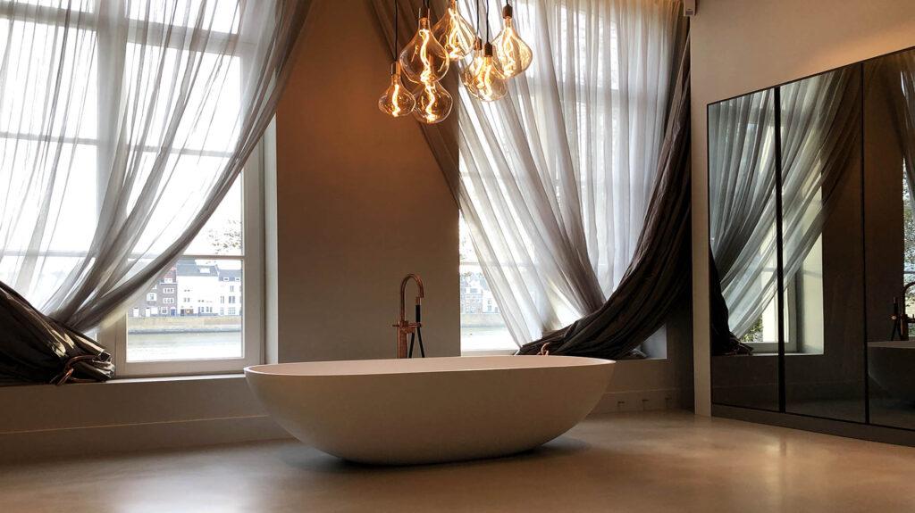 vrij staand bad atix gietvloer